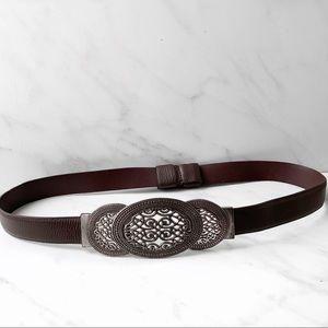 Chico's Leather Medallion Belt small / medium